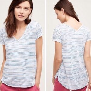 Anthropologie T.la Tillie Striped Top
